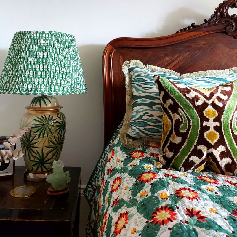 Dorothy Cotton Lampshade In Green 35cm image
