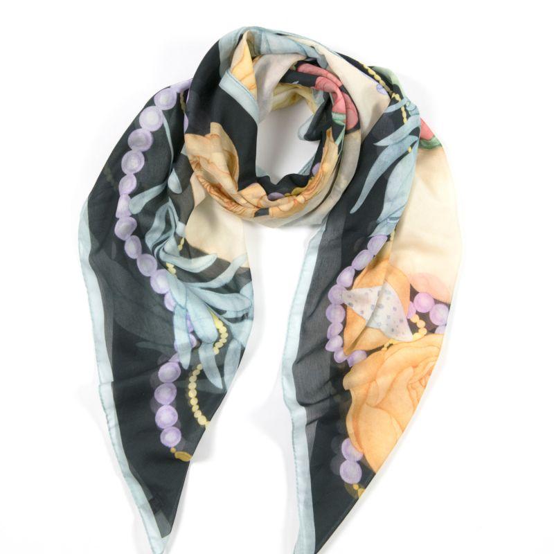Dwarf Boa Large Cotton Silk Scarf - Square image