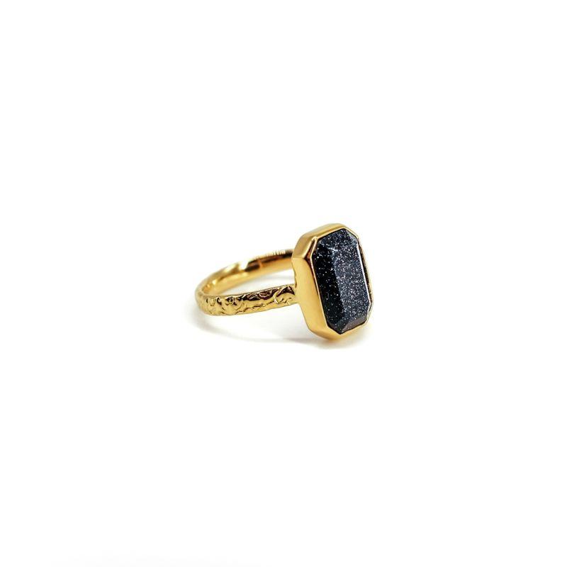 Vye Blue Goldstone Gold Ring image