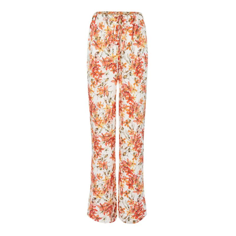 Silk Trousers In Wild Rose image