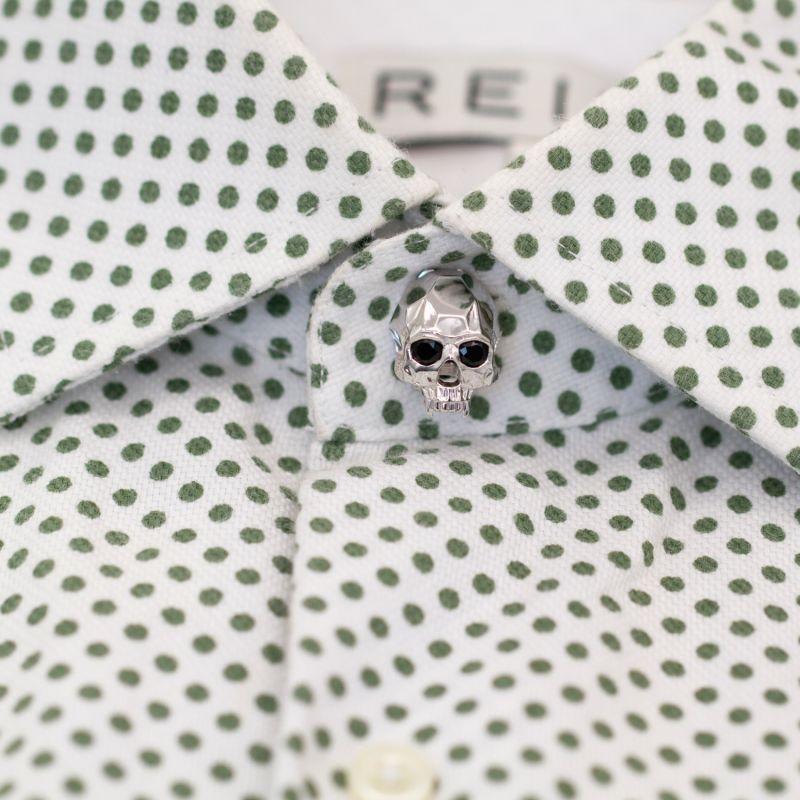 Vampire Skull Button Cover Silver image
