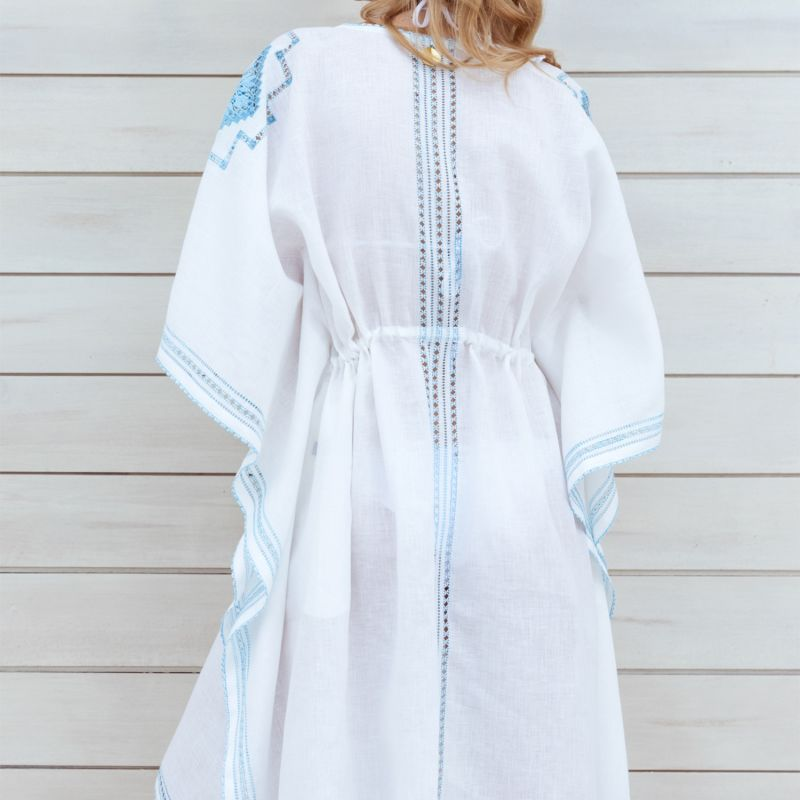 Uliana Beach Dress in Elegant White image