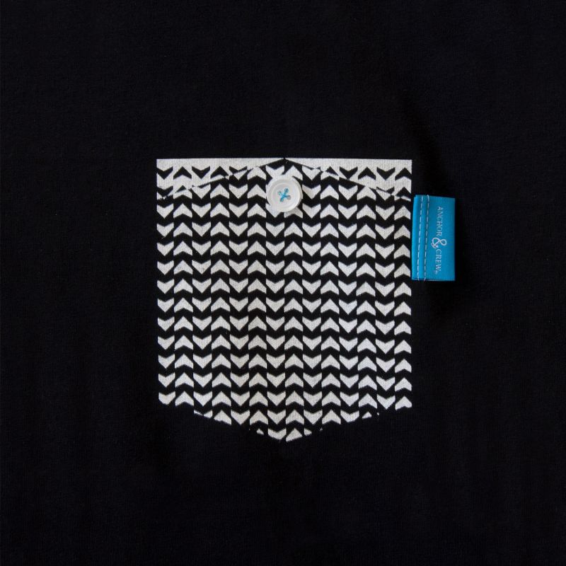 Noir Black Marker Print Organic Cotton T-Shirt (Mens) image