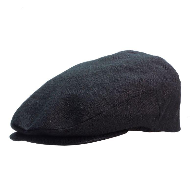 Linen Flat Cap - Blue image
