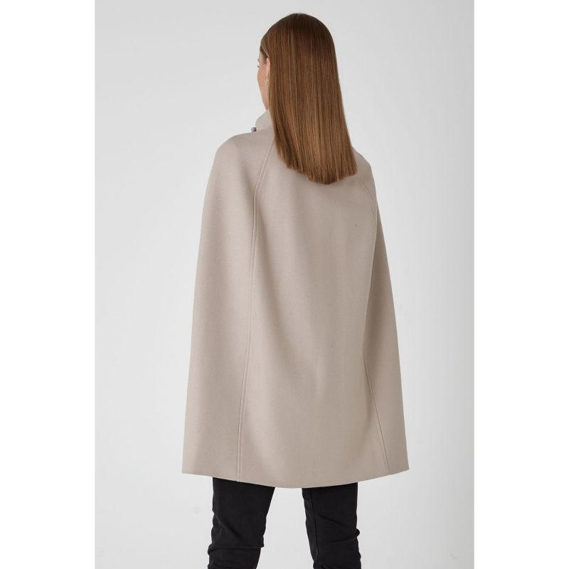 Wool Cashmere Single Breasted Cape - Bisque image
