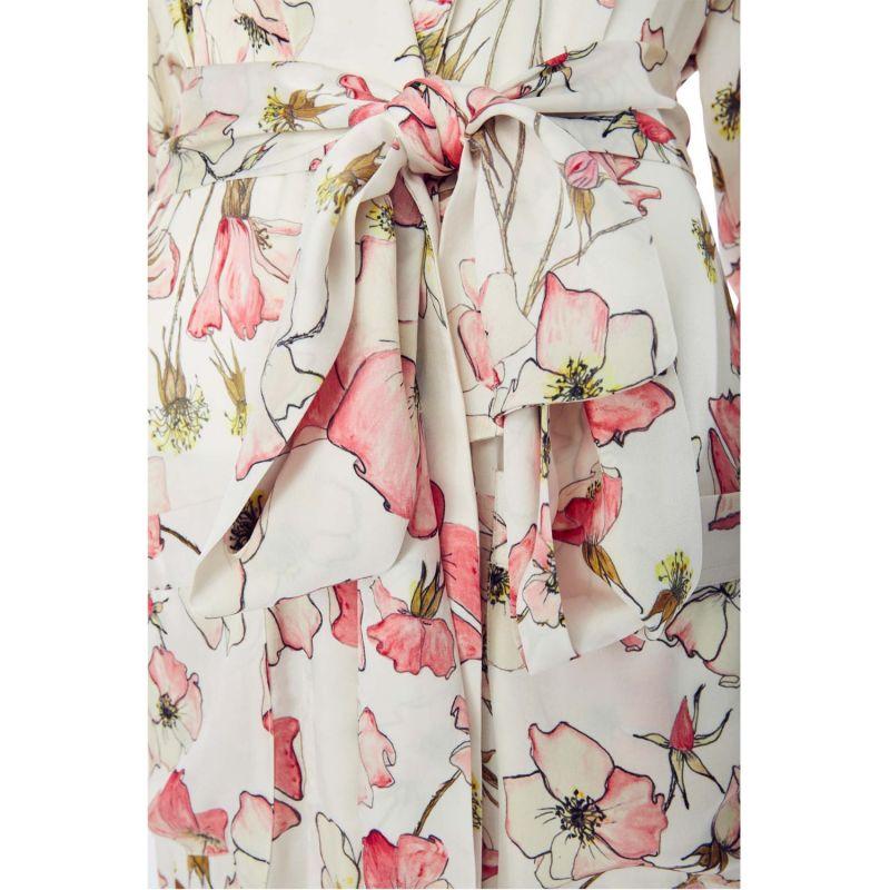Silk Robe In Pink Rose image