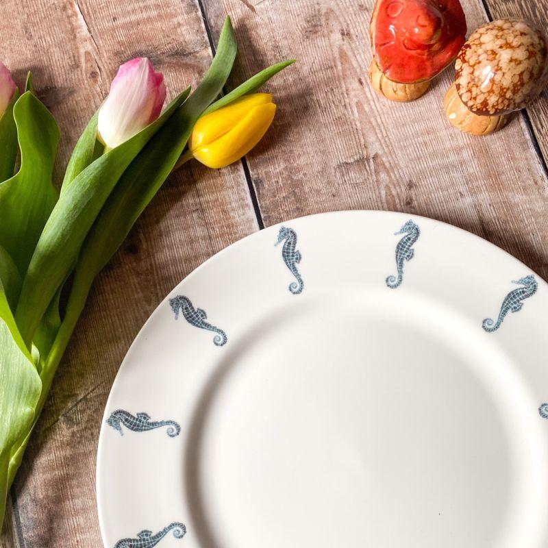 Seahorse Dinner Plate image