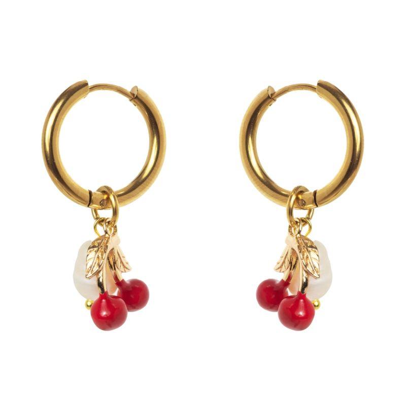 Cherry Hoop Earrings image