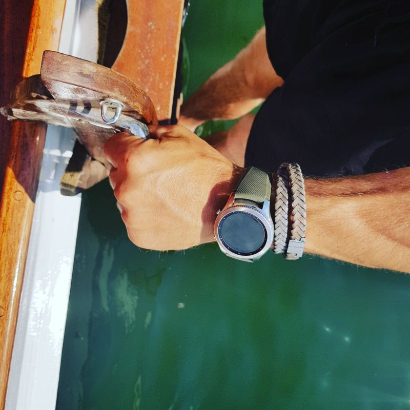 Jargon Jade Leather Double Wrap Bracelet - Stark Gold image