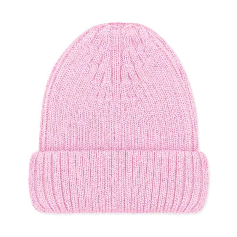 100% Extra Fine Merino Beanie Pale Pink image