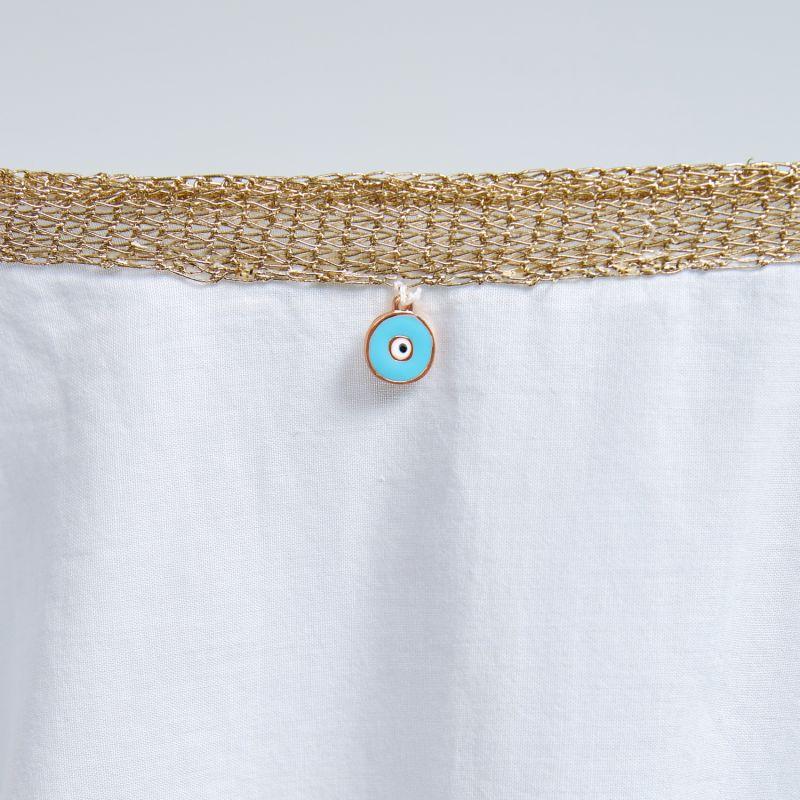 Wrap Organic Cotton Vest in White image