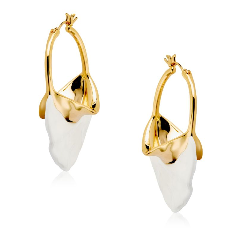 AMY Gold Plated Ceramic Earrings image