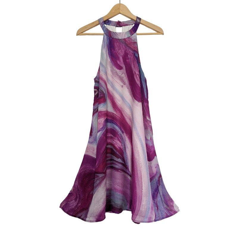 Halterneck Dress Pink Ibiza image