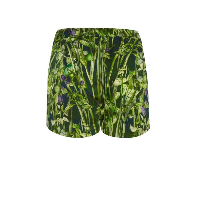 Silk Shorts In Rivermint image