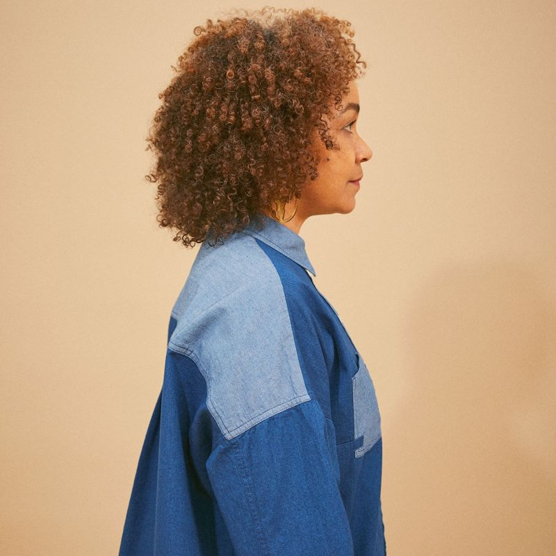 Lela Patch Pocket Shirt Cotton Denim image