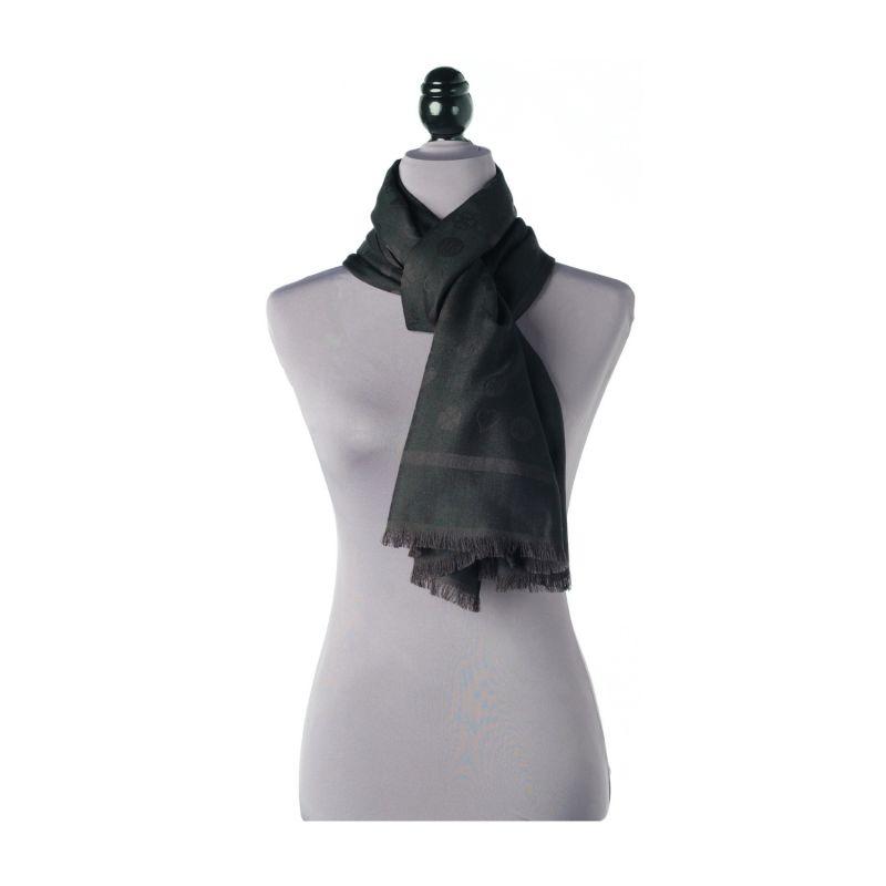 Luxury All Season Oblong Wrap Scarf Black image