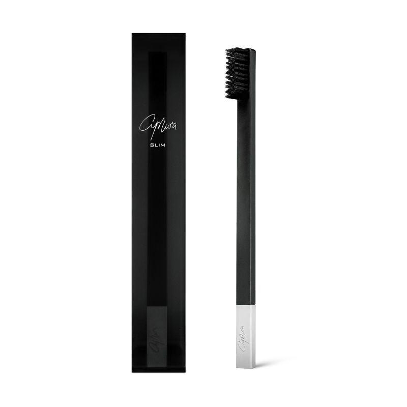 Apriori Slim Black Silver Soft Toothbrush image