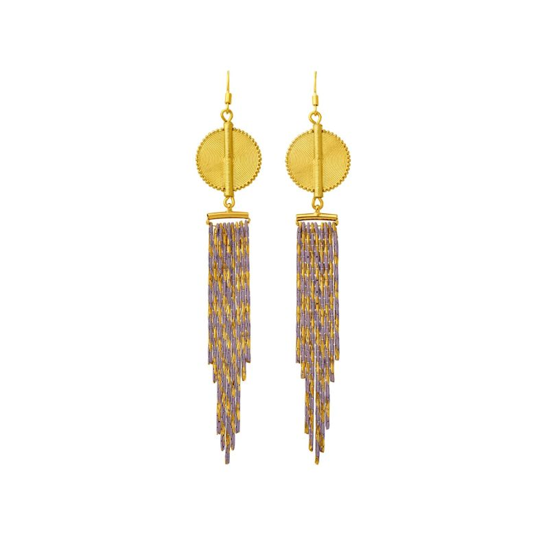 Aflé Bijoux Akan Cascading Chain Earrings - Gold Rosa image