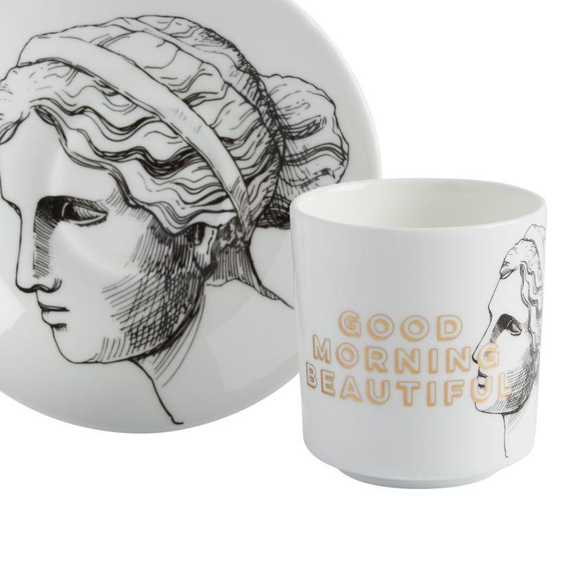 Good Morning Beautiful Espresso Cup & Saucer image