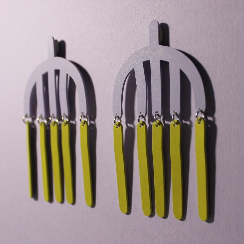 Reflection Earrings - Lavender & Grass Green image