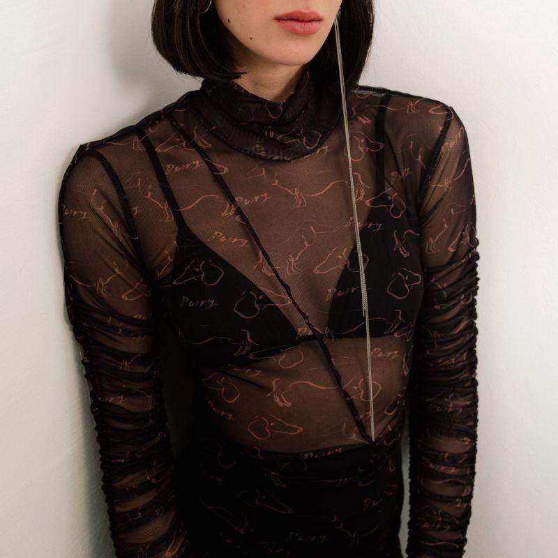 Maggie Printed Mesh Dress image
