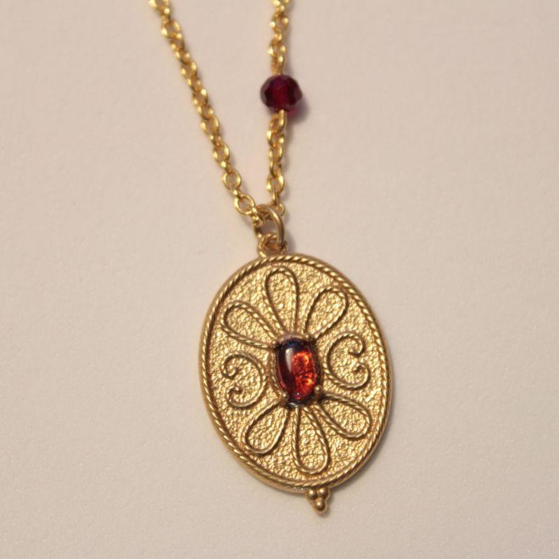 Hellenistic Filigree Greek Necklace image