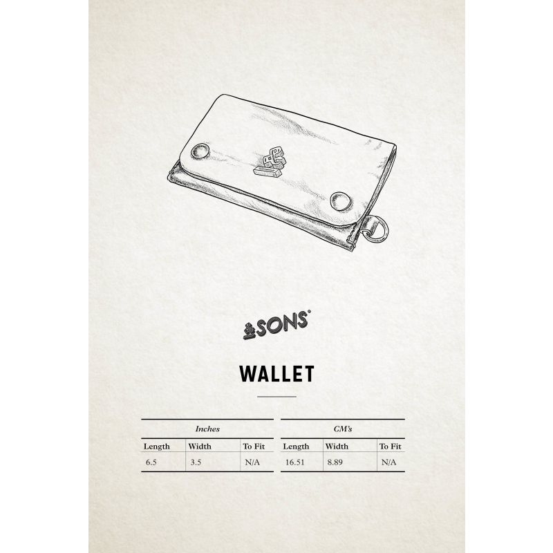 &Sons Black Leather Wallet image