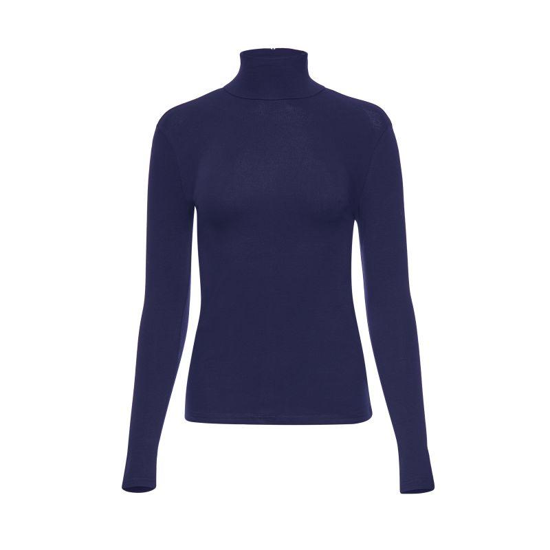 Mock Neck Long Sleeve Turtleneck (Blue) image
