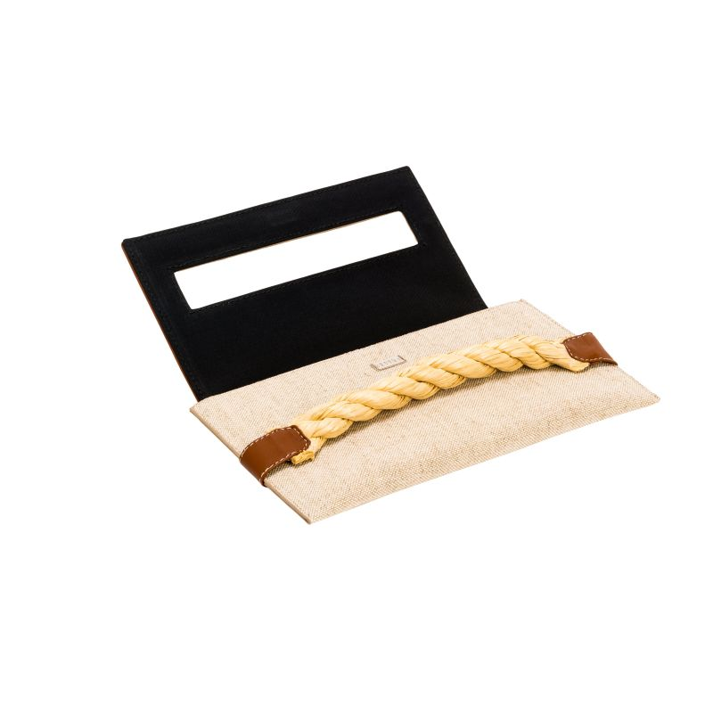 Thory Natural & Tan Envelope Clutch image
