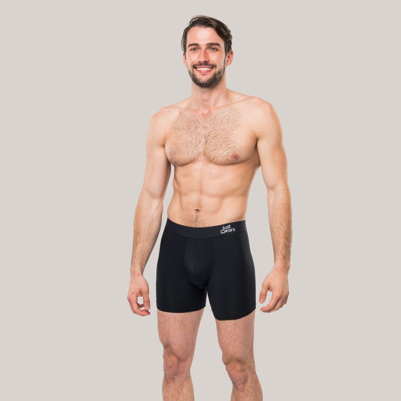 Super Soft Boxer Briefs - Anti-Chafe & No Ride Up Design - 2 Pack With & Without Pouch image