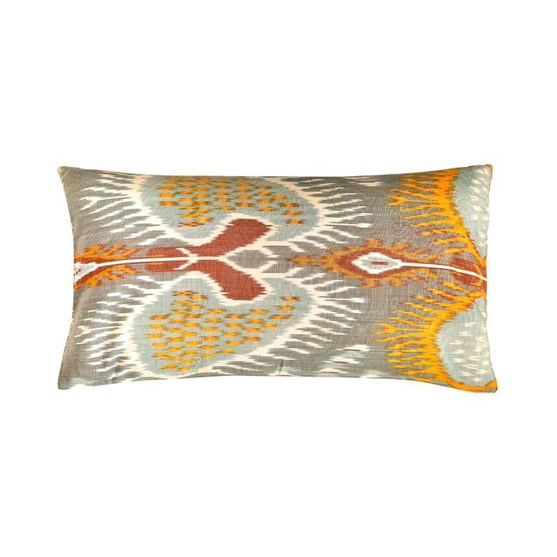 Taj Mahal Pomegranate Suzani Ikat Silk Heritage Design Cushion image