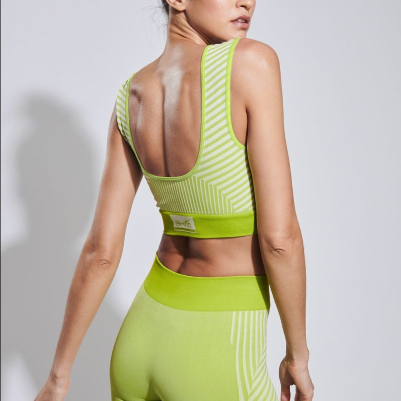 Conscious Yoga Sports Bra In Pure Lime image