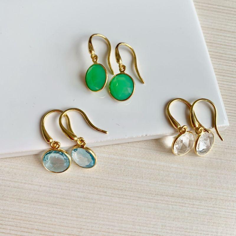 Antibes White Topaz & Gold Vermeil Earrings image