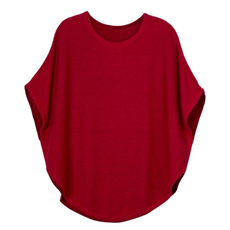 Flora Cotton Cashmere Reversible Poncho Cranberry & Red image