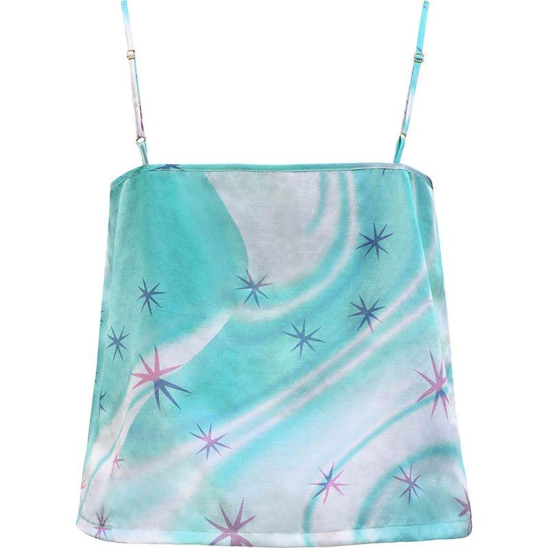 Blue Star Swirl Silk Satin Cami image