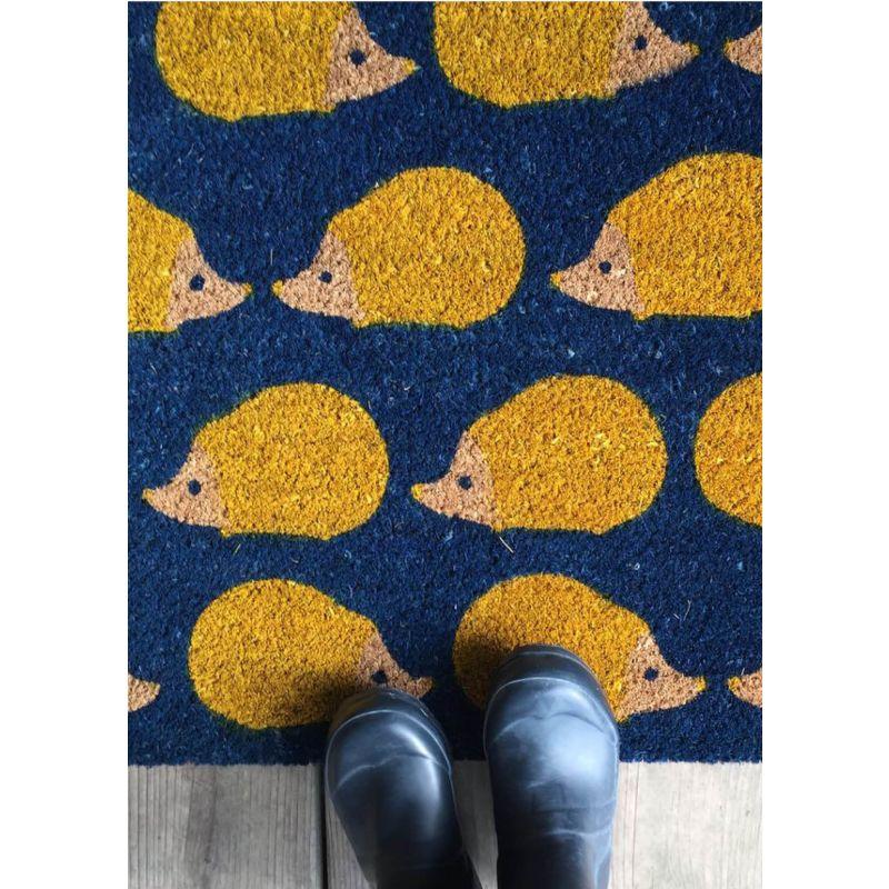 Anorak Kissing Hedgehogs Doormat image