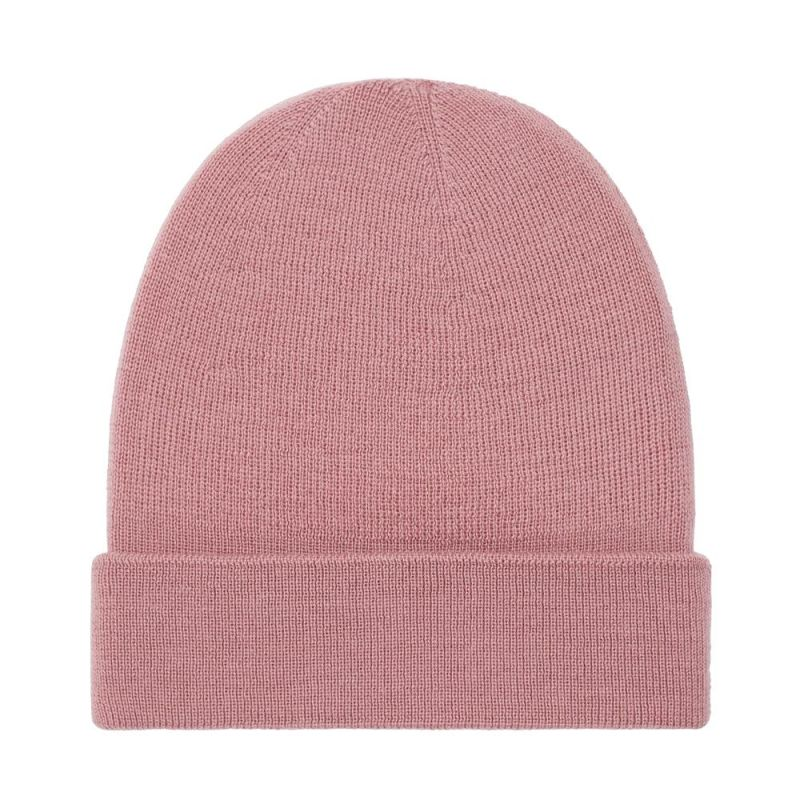 Lightweight 100% Extra Fine Merino Fisherman Beanie Rose Pink image
