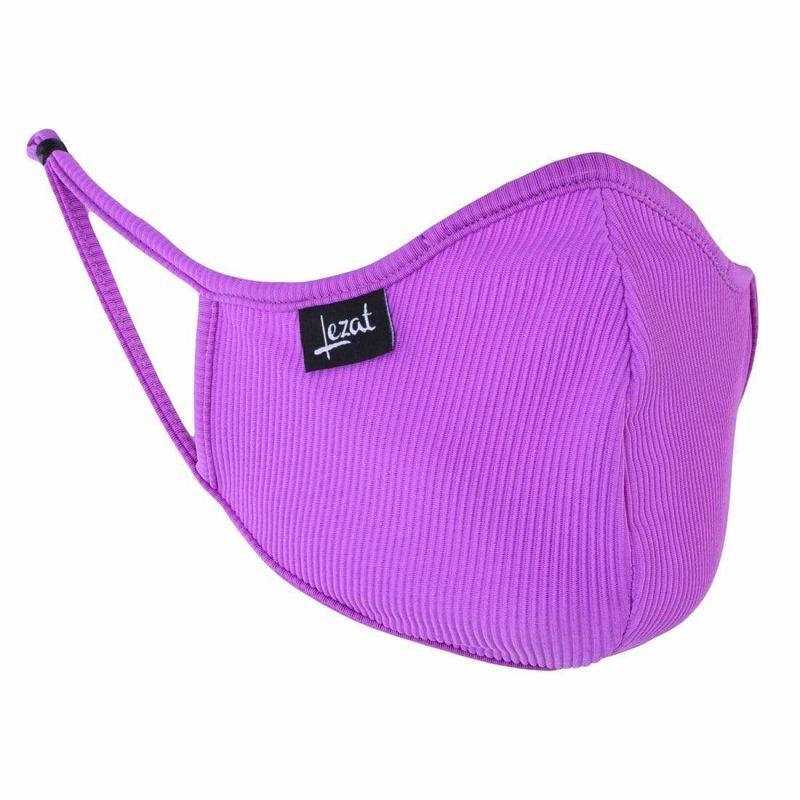 Vivid Violet Rib Face Mask image