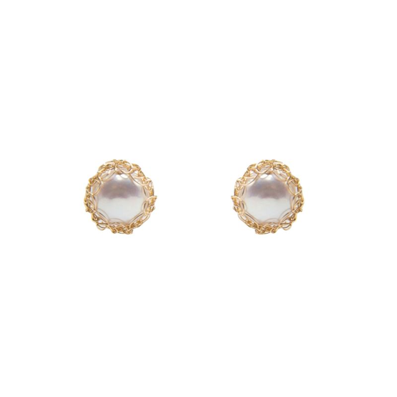Gemma Recycled 14K Gold-Filled Stud Earrings image