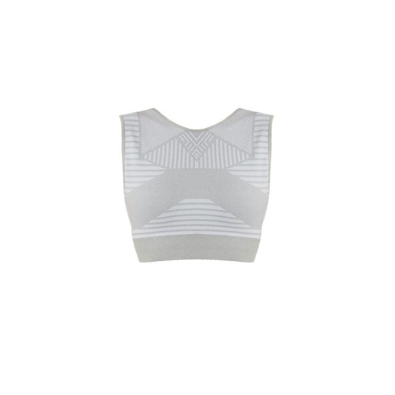 Open Back Midi Bra In Gray image