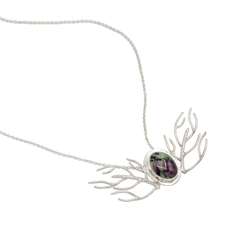Ocean Wings Necklace - Ruby image