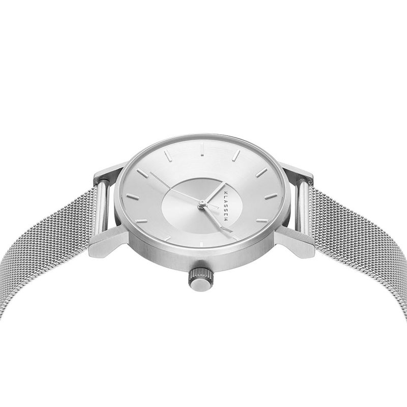 Volare Silver With Mesh Band 36Mm image