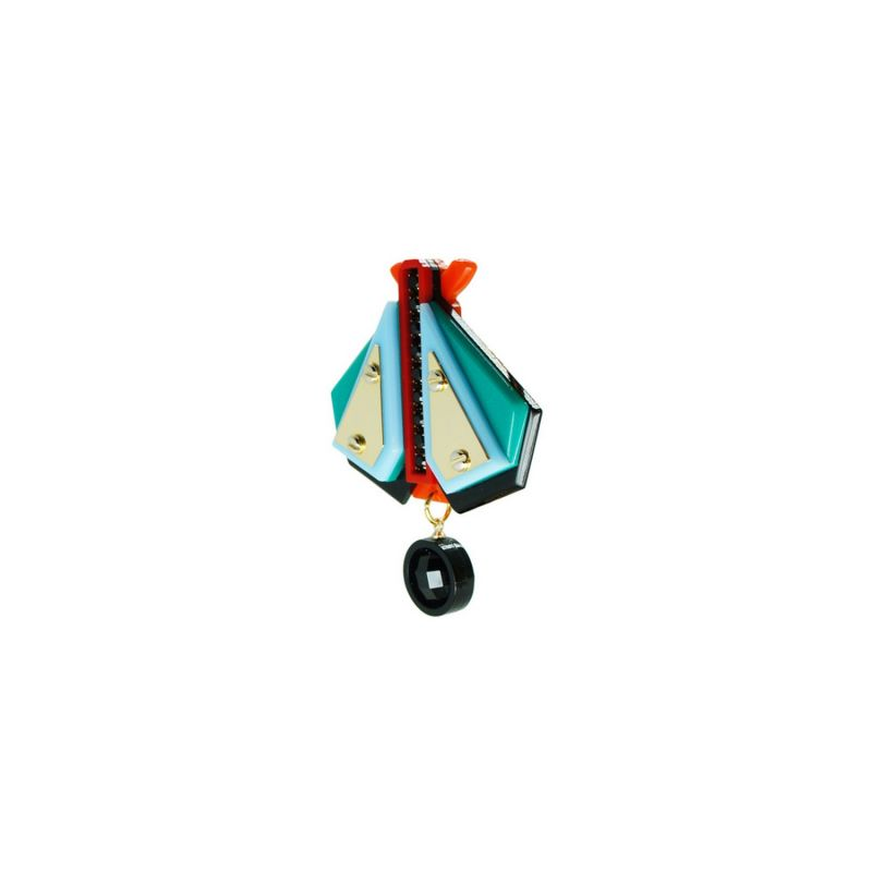 Acrylic Handmade Brooch Papaloti - Turquoise Green image