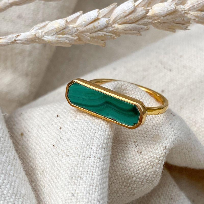 Eva Malachite Gold Ring image