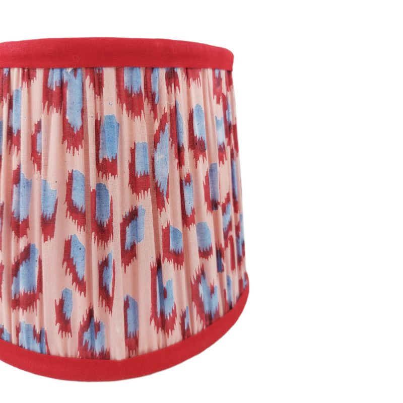 Gathered Cotton Lampshade 20cm - Dusty Pink image