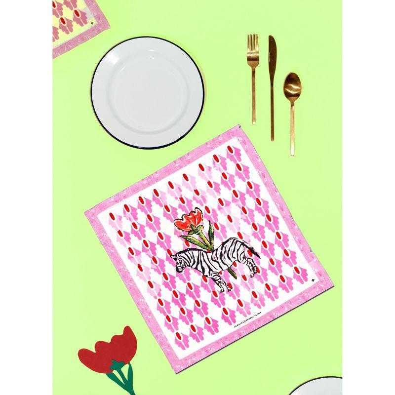 Linen Table Napkin - Zebra image