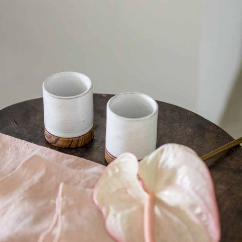 Dode Small Ceramic Tea & Espresso Cup Set - Brushed White image