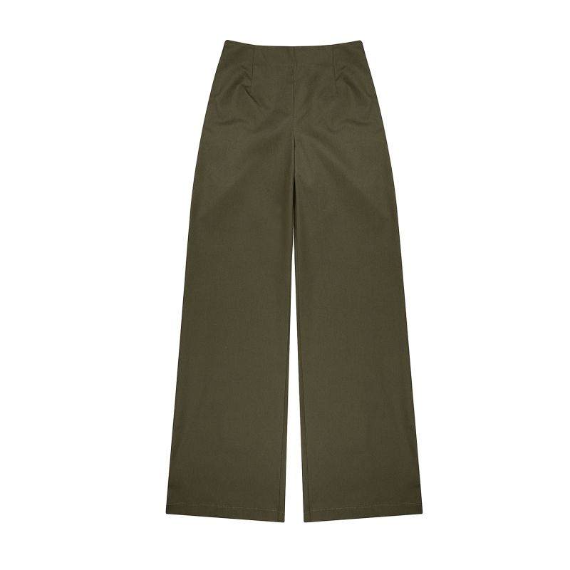 Mens Boronia Cotton Flares Military Green image