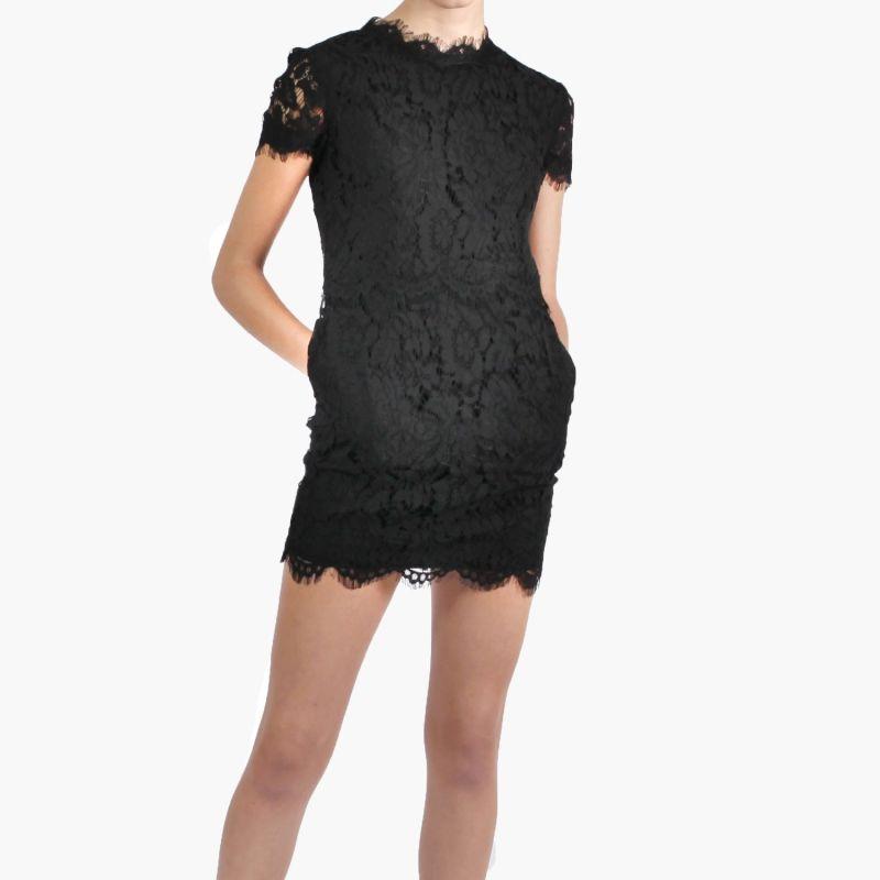 Ida Noir Lace Mini Dress image