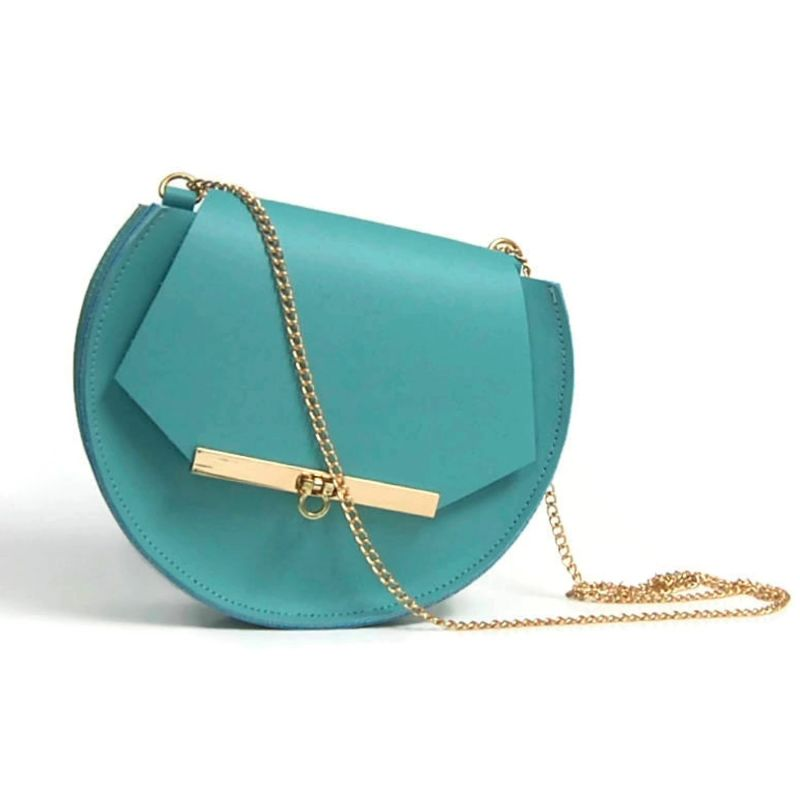 Loel Mini Military Bee Chain Bag Clutch In Pool Blue image